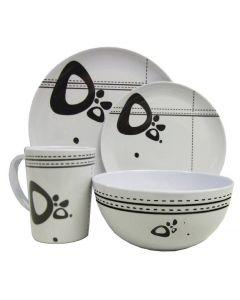 Leisurewize 16 Piece Melamine Kitchenware Set (Abstract)
