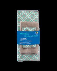 Kitchen Towel/Dish Cloth/Drying Mat Set (Green)