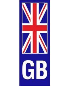 W4 GB Union Jack Upright Plate Sticker