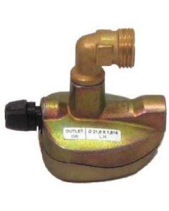 Truma Butane Gas 27mm Clip-on Adaptor (90º Elbow)