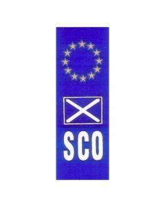 W4 Euro Scotland Upright Plate Sticker