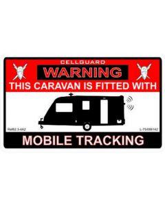 W4 Caravan Tracker Fitted Sticker