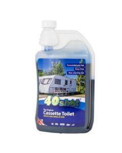 40 Shot Blue Cassette Toilet Fluid (1 Litre)