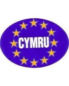 W4 Cymru EU Oval Sticker