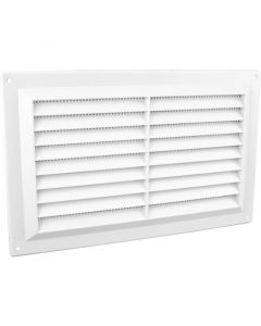 "Louvre Vent with Flyscreen 9.5"" x 6"""