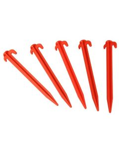 Via Mondo Red Deluxe Plastic Pegs (Pack of 50)