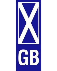 W4 GB Scotland Upright Plate Sticker