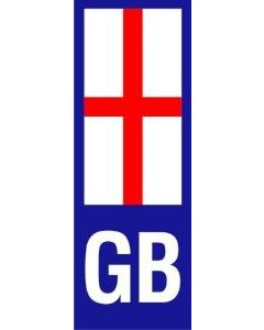 W4 GB England Upright Plate Sticker