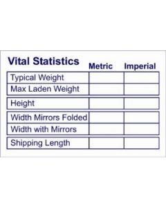 W4 Vital Statistics Sticker