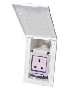 W4 Waterproof Mains Outlet 13 Amp Flush