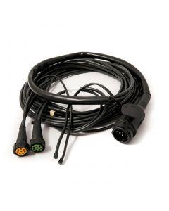 Aspock wiring harness, 13-pin plug, 8-pin bayonet