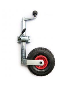 TT Pneumatic Jockey Wheel And Clamp (48mm Diameter)