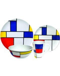 Leisurewize 16 Piece Melamine Kitchenware Set (De Stijl)