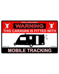 W4 Caravan Tracker Fitted Sticker